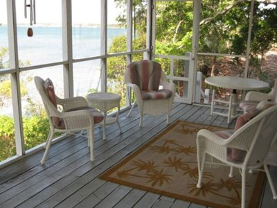 screened porch overlooking sound