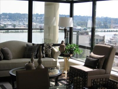 Living Room with River View