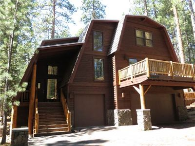 This Lodge style home has lots of room for 2 families