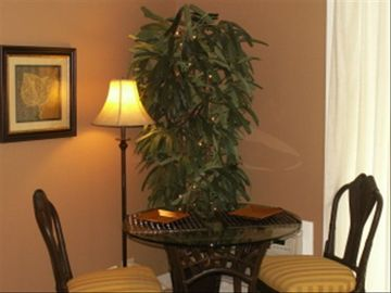 Cozy indoor dining or relax on your private covered lanai