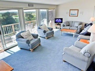 Katama house photo - The Sunny Living Room On The Top Floor Has Views, Deck & Room To Relax. Third Floor