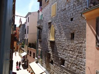 Rovinj City apartment photo - Bedroom 2 overlooks nice palaces in the narrow streets of Rovinj