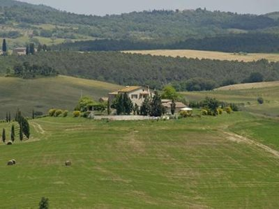 Ancient farmhouse in the countryside of Siena