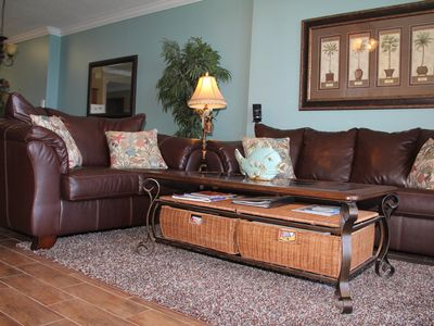 Comfortable Leather Sofa and Loveseat