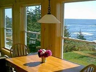 Pemaquid Point cottage photo - Enjoy The View from the kitchen table
