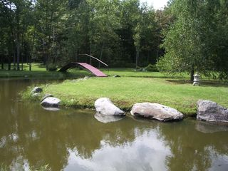Knowlton house photo - Pond and Bridge