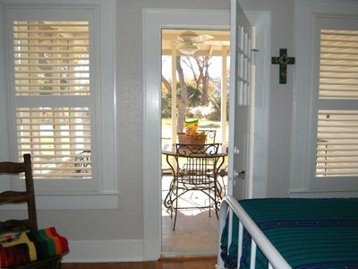 Front bedroom facing screened-in porch