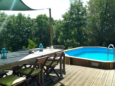 Samoens chalet rental - Pool and sun deck area