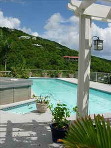 Chocolate Hole cottage rental - Lap pool and hot tub