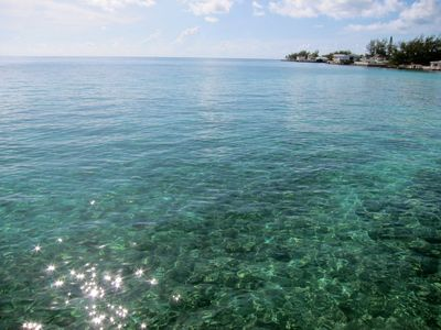Crystal Clear Waters off the Ocean Terrace - typical Bahamas waters