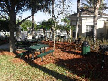 BBQ and Picnic area just outside the pool