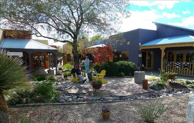 Tubac's artisan village with 100 shops features local art and crafts.