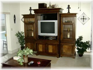 Hollywood house photo - Wood Entertainment Unit w/Cable and DVD Player