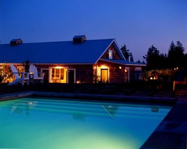 Spirit Hill Farm Evening View From Pool