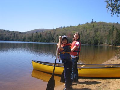 Mont Tremblant condo rental - Canoeing at one of the many lakes in Tremblant National Park. A gem to see.