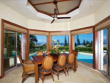 Dining Room with Fully Retractable Windows and ocean views!