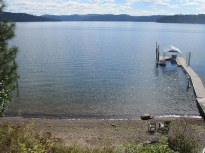 100' of Beach Frontage, Dock and Boat Slip.