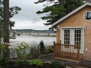 Wiscasset cottage photo - Waterview from master bedroom porch