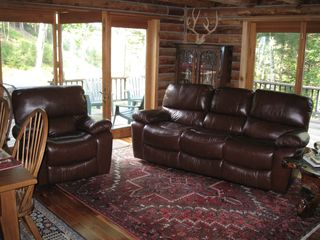 Lake Placid cabin photo - Living room with Fold-out Bed