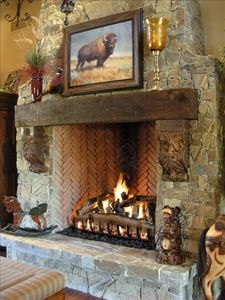 Great Room gas fireplace