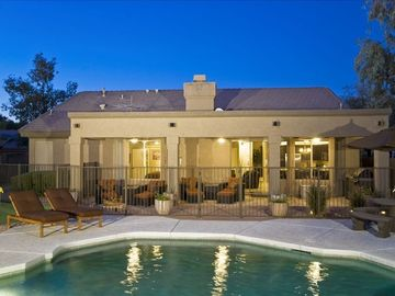 Kierland Scottsdale house rental - Spacious backyard w/Heated Pool/Spa (fenced for children) & 5-hole Putting Green
