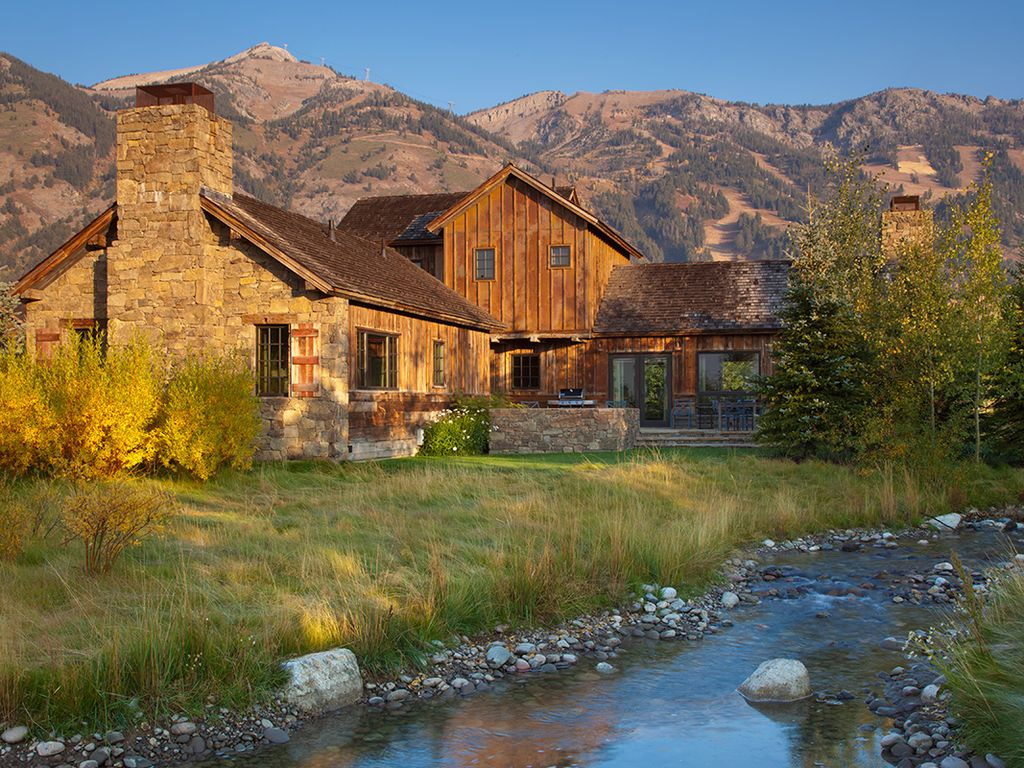 Four bedroom shooting star cabin vrbo for Cabin rentals in jackson hole wy