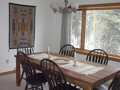 Big Sky condo rental - Large Dining Area with territorial views