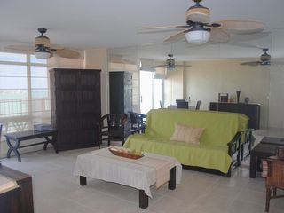 Isla Verde apartment photo - The living room, with a view.
