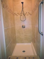 Colorado Springs house photo - Beautiful tile shower attached to Bedroom #1