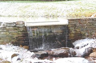 Stratton Mountain farmhouse photo - waterfall in early winter