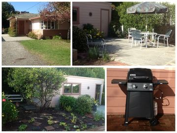Aptos house rental - Private yard, new gas barbecue. Beach toys in garage for you to use!