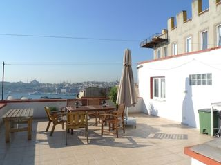 Istanbul apartment photo - Part of the roof terrace. Not shown is food prep area and new teak furniture.