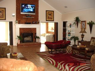 Gulf Shores house photo - Relax and lean back in this huge great room and watch the big screen Tv/recorder