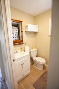 Austin house rental - Guest bathroom.