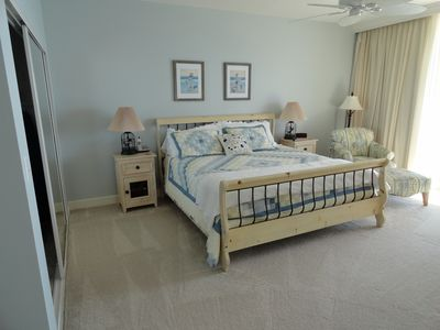Master Bedroom with direct access to deck.