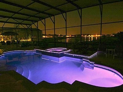 Night Time Pool Blue