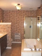 Private bath w king bedroom w separate tub & showe - Asheville chalet vacation rental photo