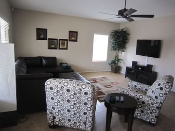 Large TV's with lots of channels!! This is a great room to relax in....