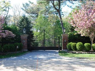 East Hampton house photo - Gated entrance
