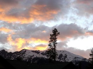 Silverthorne townhome photo - View to west at sunset from our Mountain Home