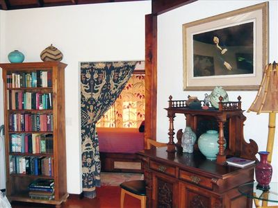 The entry to the twin bedroom: note beautiful furnishings