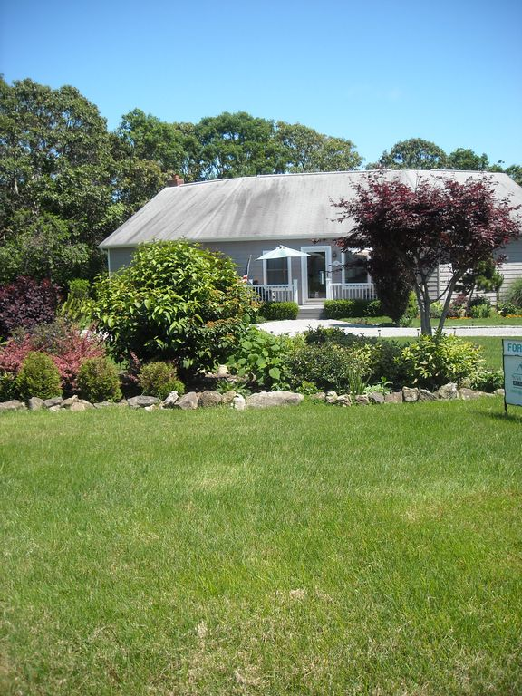 Montauk house rental - Front Exterior Overlooking Beautiful Garden
