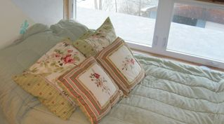 Alpena house photo - Double Window bed in Butterfly Room