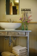 Boonville farmhouse photo - A peek into the Porch Room bathroom