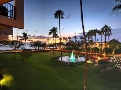 Fountains and the ocean view from our lanai - awesome shot Brandon thanks again!