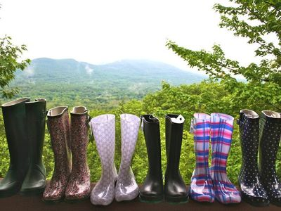 June in the Tower (rainboots are guest provided)!
