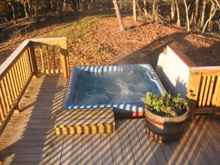 Moorefield cabin photo - Enjoy the Hot Tub - day or night