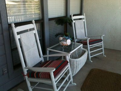 Relax on the Front Porch overlooking the Pool!