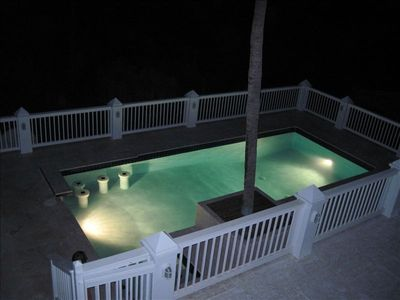 Water Island condo rental - Pool at Night - Swim up Bar