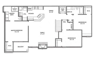 Bay-Beach-Golf Condo Floorplan